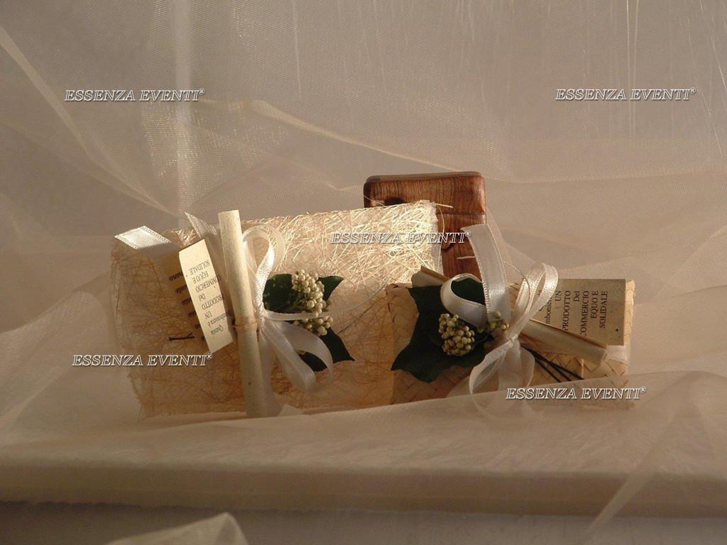 Bomboniere equosolidali Raggio Verde Essenza Eventi®