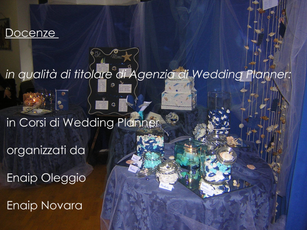 Essenza Eventi Docente per Corsi di Wedding Planner
