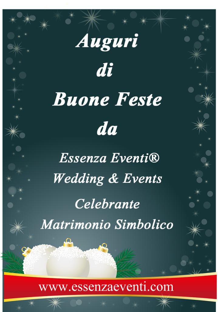 Auguri di buone feste Essenza Eventi Wedding e celebrante simbolico