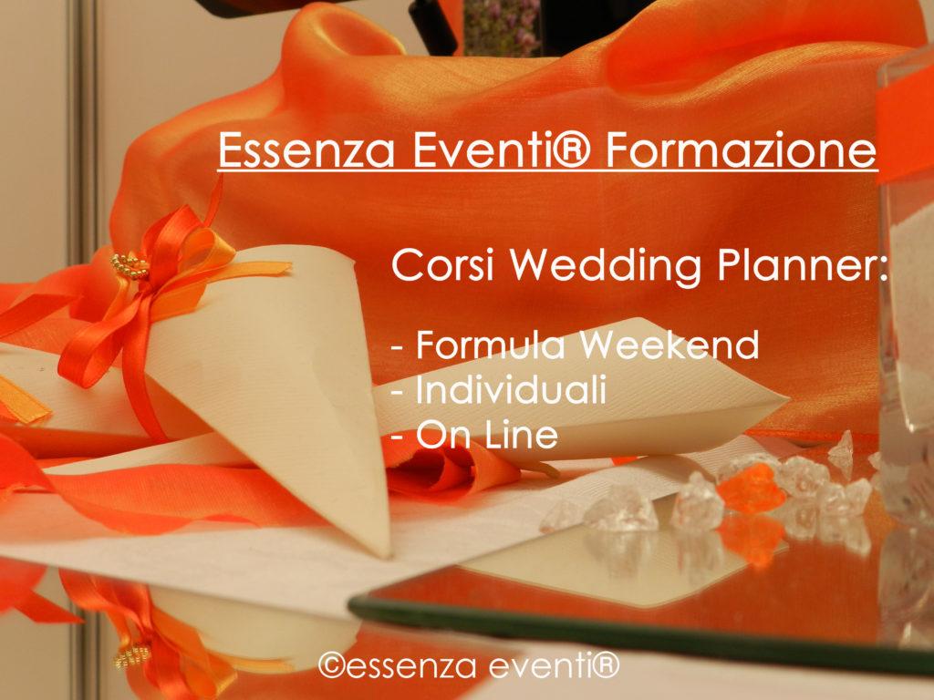 essenza eventi corsi di Wedding Planner