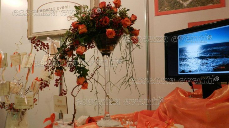 ORANGE AND WHITE PER IL VOSTRO WEDDING DAY