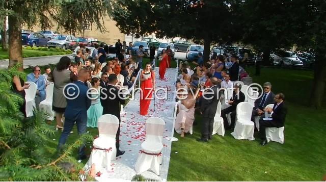 L'entrata della Sposa preceduta dal corteo di damigelle