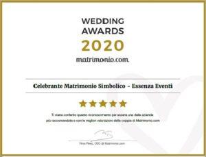 Matrimonio.com – Wedding Award 2020 Celebrante