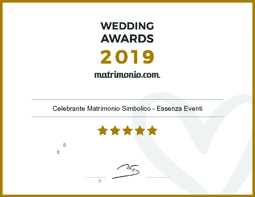 Matrimonio.com – Wedding Award 2019 Celebrante