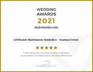Matrimonio.com – Wedding Award 2021 Celebrante